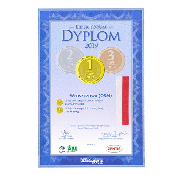 Produkty OSM Włoszczowa nagrodzone w konkursie Lider Forum 2019